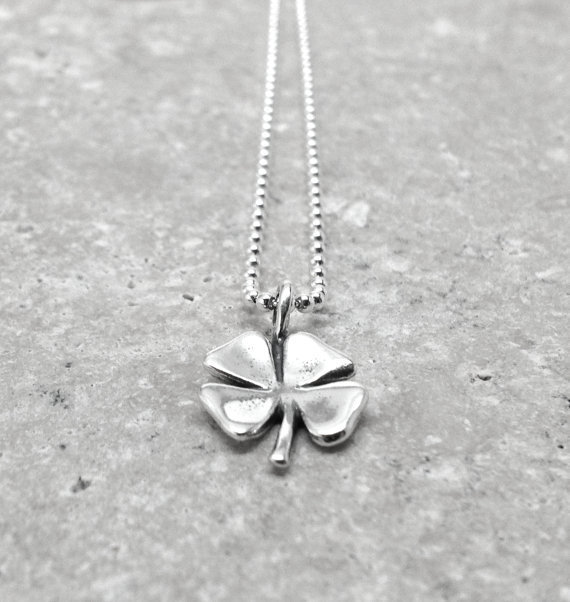 Four Leaf Clover Necklace, Sterling Silver
