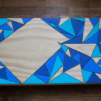 Abstract wood burned and painted art piece with space for custom burn.