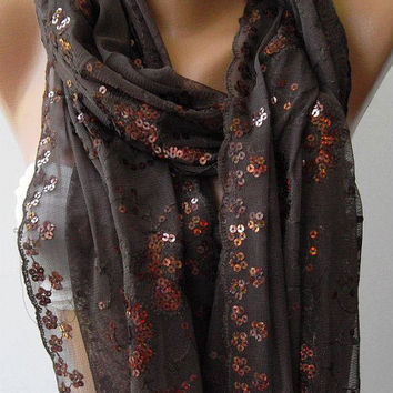 Dark Brown   / Turkish Shawl