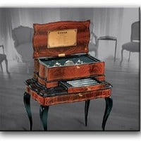 Amazon.com: Orchestrion Reuge Music Box Grand Cartel Inlaid 20.144 Movement, Limited Edition of 20: Jewelry