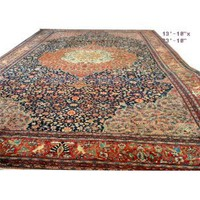 Amazon.com: A Huge Classic Palace Size Antique 14 ft x 22 ft Persian Ferahan Sarouk Rug: Kitchen & Dining