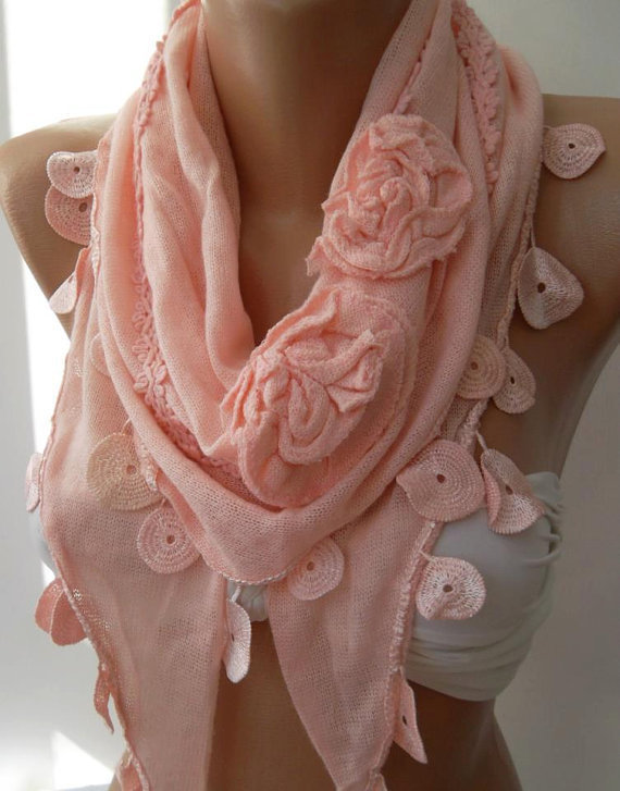 Pink / Elegance  Shawl.