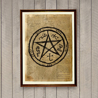 Occult print Magic circle poster Pentacle decor