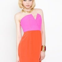 Naven 2-Tone Bombshell Dress Pop Pink/Orange Crush- Naven Bombshell Dress- $210