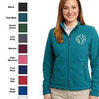 Monogrammed Personalized Ladies Fleece Jacket by Arts & Soles