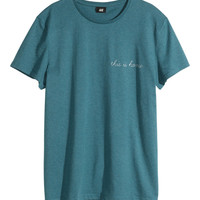 H&M - T-shirt with Embroidered Text