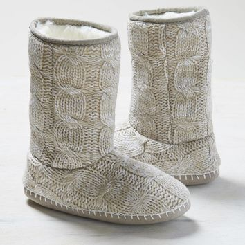 AEO Women's Cable Knit Roll-down Bootie