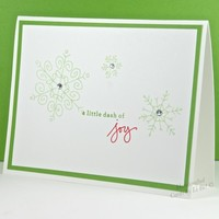Handcrafted Green Snowflake Joyful Christmas/Seasonal Greeting Card