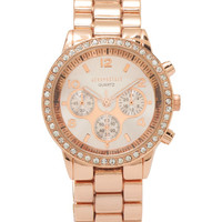 Aeropostale Metal Boyfriend Watch - Rose Gold, One