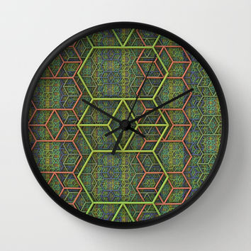 Retro Pattern Wall Clock by Lyle Hatch