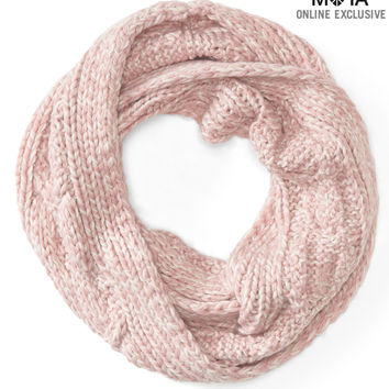 Aeropostale Cable-Knit Infinity Scarf - Pink Parade, One