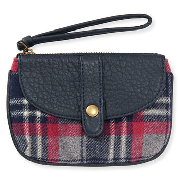 Aeropostale Plaid Wristlet - Classic Navy, One