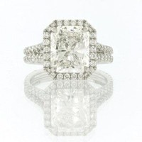 5.15ct Radiant Cut Diamond Engagement Anniversary Ring: Jewelry: Amazon.com