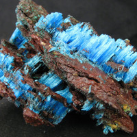 Chalcanthite (primary), The Planet Mine, La Paz Co., Arizona--Top shelf specimen