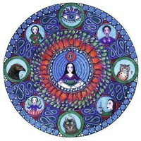Scorpio Astrology Mandala Art Print - Art Zodiac Print by Lindy Longhurst