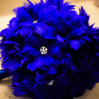 Ophelia Feather Bouquet in Royal Blue