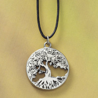 Pewter Tree of Life Pendant - Women's Clothing & Symbolic Jewelry – Sexy, Fantasy, Romantic Fashions