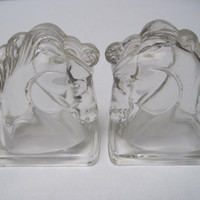 Horsehead bookends, regency bookends
