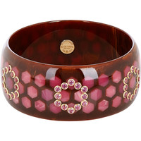 "Garnet & Bakelite ""Abielle"" Bangle"