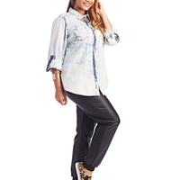 Acid Wash Denim Shirt | Wet Seal+