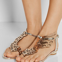 Sophia Webster | Seraphina mirrored-leather sandals | NET-A-PORTER.COM