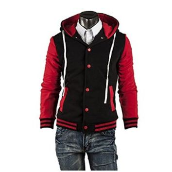 Fashion 2014 Autumn Mens Baseball Hoodie Korean Stylish Sweatshirt Sports Jacket