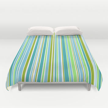 Candy Stripe 1 Duvet Cover by Alice Gosling