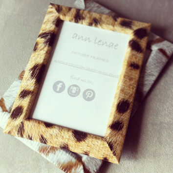 Wild Cat Print Frame Serval Spotted Duct Tape Covered by AnnLenae