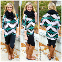 Meet Me In Montana Tunic - Teal - TEAL /