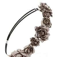 FOREVER 21 Metallic Faux Rose Headband