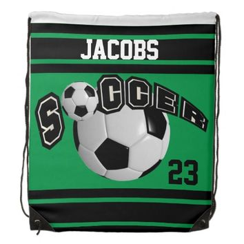 Personalize Soccer Team Backpacks | Green