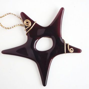 Fused Glass Star Ornament