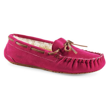 Faux Suede Fur-Lined Moccasin