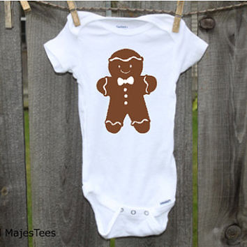 Gingerbread Man Christmas Onesuits®, Baby's 1st Christmas, Toddler, kids