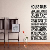 House Rules Wall Decal Sticker We Do Art Vinyl Poster Print Sign for Living Dining Room