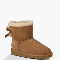Ugg Mini Bailey Bow Girls Boots Chestnut  In Sizes