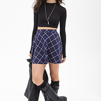 FOREVER 21 Plaid Skater Skirt