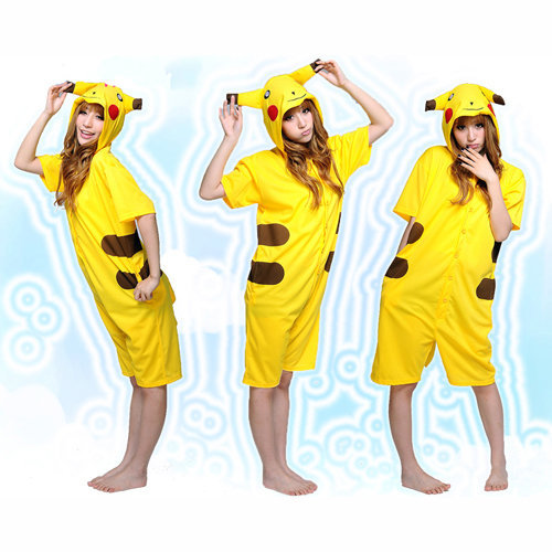 Kigurumi Costumes Cute Yellow Pokemon Pikachu Cosplay Kigurumi Unmasking Costume Animal Pajamas [C20120725] - $46.99