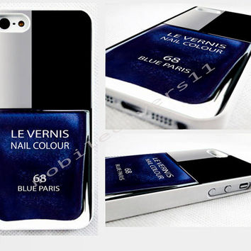 blue nail polish phone cover iPhone 4,4s 5,5s 5C,6,6 plus, available for samsung galaxy, galaxy mini