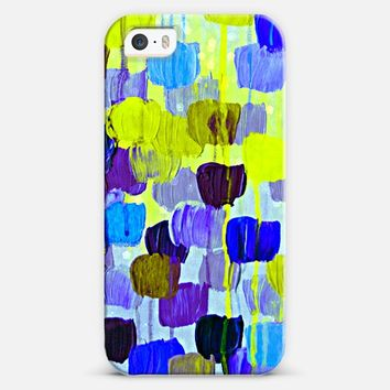DOTTY IN PERIWINKLE - Colorful Polka Dots Spots Abstract Whimsical Soft Placid Royal Blue Lavender Purple Bokeh Feminine Drip Acrylic Painting iPhone 5s case by Ebi Emporium | Casetify