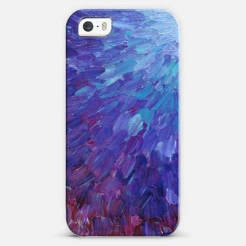 SCALES OF A DIFFERENT COLOR - Bold Deep Violet Aubergine Lavender Periwnke Purple Ombre Ocean Waves Splash Abstract Peacock Feathers Painting iPhone 5s case by Ebi Emporium | Casetify