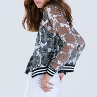 Forever In Flowers Organza Jacket