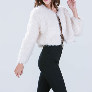 Oh So Fuzzy Furry Cropped Jacket