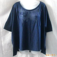 New navy XL Old Navy short-sleeved semi-sheer top - T-Shirts & Tank Tops