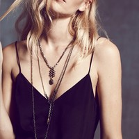 Free People Labradorite Drop Necklace