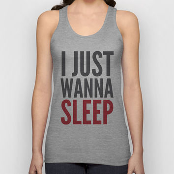 I JUST WANNA SLEEP Unisex Tank Top by CreativeAngel | Society6