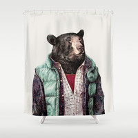 Black bear Shower Curtain by Animal Crew
