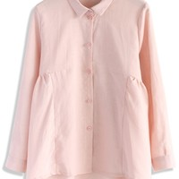 Dolly Flare Shirt in Pink