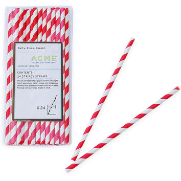 Stripey Straws, Red, Set of 96, Other Bar Tools & Accessories