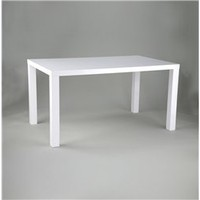 Abby Contemporary White Dining Table Modern Design, Modern White Dining Table: Nyfurnitureoutlets.com